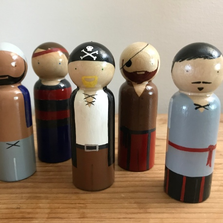 Pirate Peg Dolls (Sold Individually)