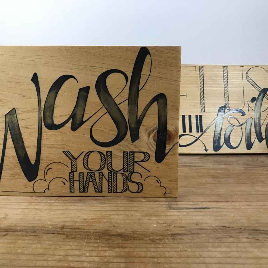 """Wash and Flush"" (set of 2)"