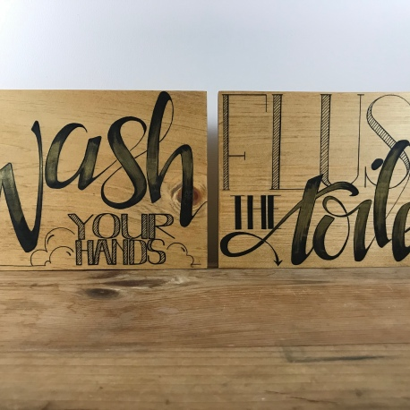 """Wash and Flush"" (set of 2)"