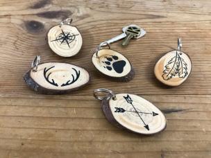 """""""Nature Hike"""" keychains"""