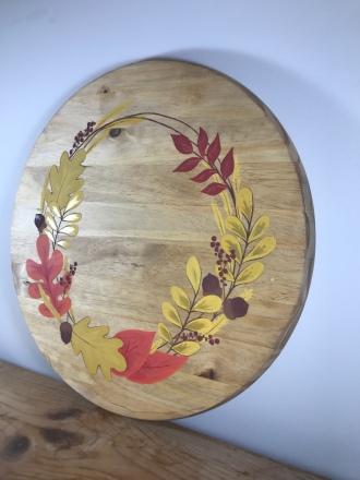 """""""Fall Wreath"""" Sign/Platter"""