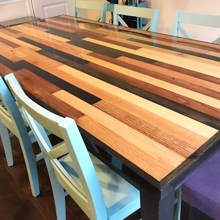 Dining Room Table, with Multiple Stains